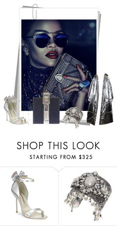 """Unbenannt #8023"" by snowmoon ❤ liked on Polyvore featuring Sophia Webster, Philipp Plein, Marchesa and Judith Leiber"