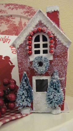red glitter house
