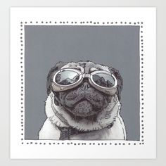 Buy Kirby the Pug Art Print by froodledoo. Worldwide shipping available at Society6.com. Just one of millions of high quality products available.