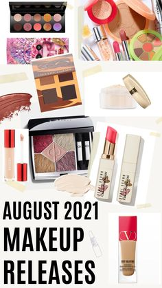 From Huda Beauty and Pat McGrath to a Bobbi Brown Collaboration and the latest from Patrick Ta, meet all the new August 2021 makeup releases that are coming in HOT. #makeupaddict #beautytips #beautyblogger #beautyblog #makeuplove Dior Beauty, Beauty Makeup Tips, Luxury Beauty, Huda Beauty, Beauty Hacks, Cream Eyeshadow, Matte Eyeshadow, Tinted Lip Balm, Lip Tint