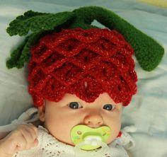 Sweet berry newborn / baby hat perfect for by katyakuznetsova, $14.99