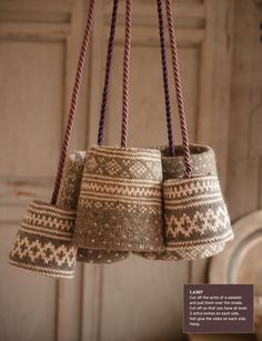 knitted lampshades #lampshade #knit #pendant #lighting