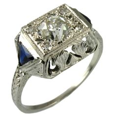 1930's 18kt Engagement Ring
