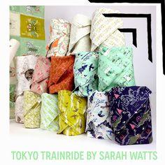 Fabricworm Giveaway: Tokyo Train Ride by Sarah Watts