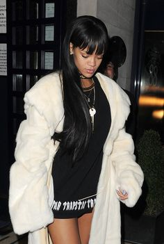 Rihanna arriving at a Drake's concert After-Party in London. Best Of Rihanna, Looks Rihanna, Rihanna Fan, Beyonce, Rihanna Street Style, Rihanna Style 2014, Rihanna Outfits, Bad Gal, My Black Is Beautiful