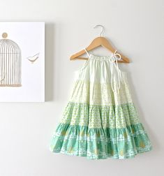 Baby Girls Patchwork Floral Twirl Dress-Easter Dress-Toddlers Spring Spin Dress-Girls Boho Dress-Handmade Children Clothing by Chasing Mini auf Etsy, 50,42 €