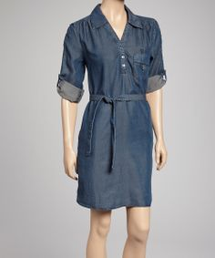 dark denim shirt dress