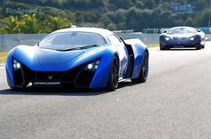 marussia b2 with marussia b1
