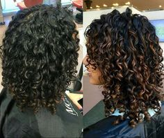 DevaCurl styling cream, and beautiful coloring.