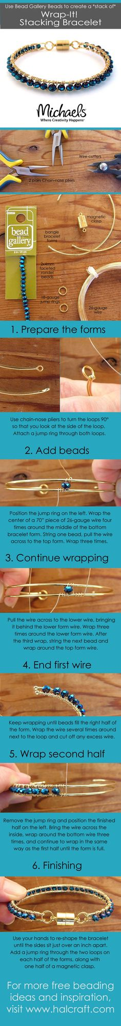 DIY Wrapped Bracelets by barb Switzer made with Bead Gallery beads. All…