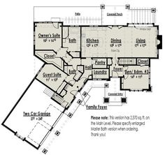 House Plans On Pinterest Mountain Style Cottage House