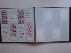 Beautiful photo booth wedding guest book in gray and white chevron print 12 x 12 pages to display your guests silly photo booth moments and