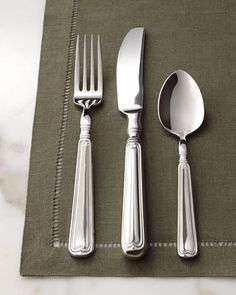 "Henckels 45-Piece ""Vintage"" Flatware Service - Horchow  Interesting retro pattern"