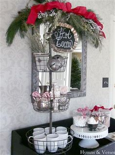 Hot cocoa bar for Christmas, love this idea!