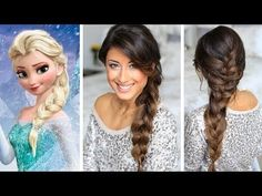 Frozen Elsa's Braid Hair Tutorial. I never watched the movie but I like the braid ~~~~~