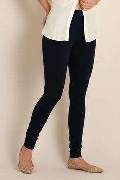 Have To Have Leggings - Ankle Length, Cotton Spandex, Eastic Waistband, Ankle Length | Soft Surroundings