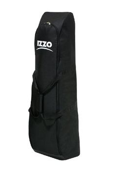 """Izzo Golf Padded Travel Cover - Izzo Golf's Padded Travel Cover is perfect for your basic transport needs. The padded soft case is lightweight and includes a durable vinyl base for added protection. The padded carry strap offers comfort while carrying over your shoulder. This case expands to 50"""" tall and collapses to 7.5"""" for e..."""