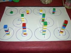 Math Manipulatives, Links, and Printables~ Lots of hands-on ideas! Numbers Kindergarten, Numbers Preschool, Math Numbers, Preschool Math, Math Classroom, Teaching Math, Math Games, Preschool Activities, Math Centers