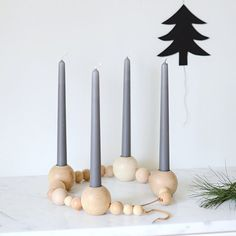This beautiful candle holder is a very simple DIY.  It would be lovely for advent!