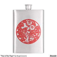 """""""Year of the Tiger"""" Hip Flasks"""