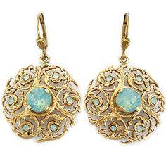 Catherine Popesco Goldtone Crystal Scalloped Vine Ornate Earrings, Pacific Blue 4869G Catherine Popesco http://www.amazon.com/dp/B00LAMDGGW/ref=cm_sw_r_pi_dp_pXDjvb0W8R13P