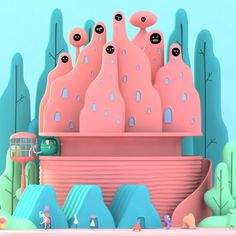 Animation by Laurie Rowan Music: Welp by Glass Boy - Simple Artwork, 3d Artwork, 3d Character, Character Design, Smoothie Detox, Identity, Biscuit, Branding, 3d Animation