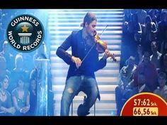 Fastest Violin Player - Guinness World Record-David Garrett   Amazing violin player