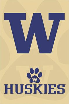 University of Washington Huskies Official NCAA Logo Poster -available at www.sportsposterw...