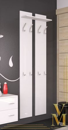Garderobenpaneel Wandgarderobe Garderobe Wandpaneel 170 - Hochglanz Naturtöne | eBay