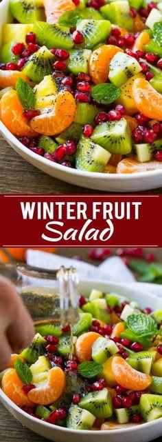 Winter Fruit Salad | Fruit Salad | Fruit Recipe | Healthy Fruit Recipe | Pomegranate Recipe | Kiwi Recipe | Orange Recipe | Pineapple Recipe