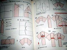 origami kimono folding instructions - Google Search