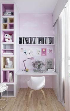 How To Use Pink Tastefully In A Kid's Room Without Over Doing It: 6 Detailed Examples That Show How Childrens Bedroom Decor, Diy Bedroom Decor, Home Decor, Table Rose, Unique Floor Lamps, Deco Rose, Futuristisches Design, Pink Room, Kids Room Design