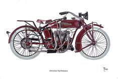 """Here is the sister of the Dream riders set! the 1919 Indian. This will make someone a nice set! 16"""" x 24"""" Acrylic."""