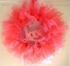 directions -Tulle Wreath