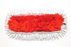 www.DanceCostumesAndJewelry.com - Three row sharp orange white paper cloth paper flower for dance makeup, $ 8.10 (http://www.dancecostumesandjewelry.com/three-row-sharp-orange-white-paper-cloth-paper-flower-for-dance-makeup/) #dance #jewelry #dancejewelry #dancecostumes #templejewelry #bharatanatyam #orange #white #paper #cloth #flower #makeup