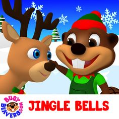 """It's Time to get into the Christmas Spirit! Sing Along to """"Jingle Bells"""" with Busy Beavers ☺ http://bit.ly/Jingle-Bells-3D-SG"""