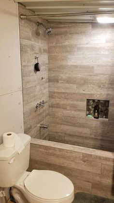 Post with 196606 views. Just Finished the Custom Shower/Bathtub in my apartment. Bathtub Shower Combo, Bathroom Tub Shower, Bathroom Renos, Downstairs Bathroom, Rustic Bathroom Designs, Bathroom Design Small, Bathroom Interior Design, Concrete Bathtub, Bathtub Tile