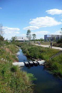 Bottière Chênaie Eco-district by Atelier des Paysages Bruel-Delmar « Landezine | Landscape Architecture Works