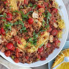 Simple Spaghetti Squash Skillet