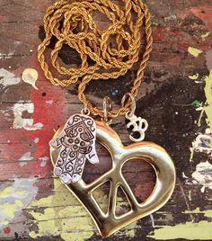 Vintage Peace Necklace for Halina  by addiewuensch on Etsy, $35.00