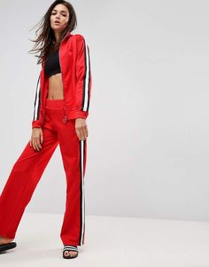 41f002bb56 Asos Co-ord Track Pants with Retro Tape Detail