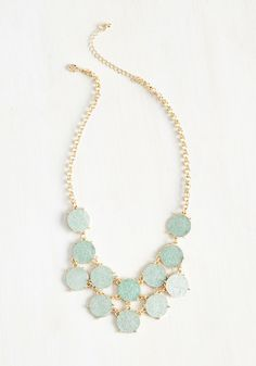 The Glitter with the Sweet Necklace. Your day is filled with favorable fortunes, all due to this statement necklace! #mint #wedding #modcloth