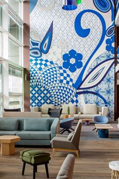 This fun design hotel is within striking distance of the city's top attractions… Top 14, European River Cruises, Hotel Motel, Waiting Area, Architecture Design, Cool Designs, Amsterdam Netherlands, Design Hotel, Distance