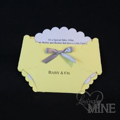 Baby Diaper Invitation Grey And Yellow Sample By Lovenicoledesigns