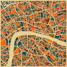 JazzBerry Blue - Abstract Maps - Illustrazioni astratte di mappe urbane