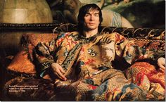 Rudolf Nureyev photographed in his Paris apartment by Lord Snowden in 1986
