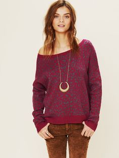 Free People Free People Cool Cat Leopard Pullover, $118.00