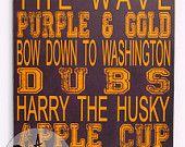 16x20 Sports sign - Washington - dubs - husky - huskies - football - baseball - volleyball - soccer -  college - university - state