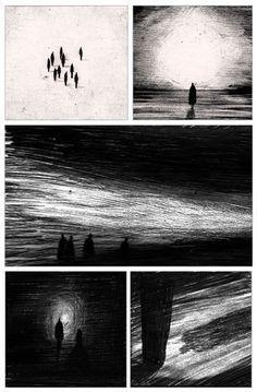 Darkness In Light - Patrick Atkins Illustration Graphic Illustration, Graphic Art, Graphic Novels, Dream Illustration, Art Illustrations, Storyboard, Bd Design, Angst Im Dunkeln, Bd Art