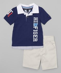 This Navy & White Polo & Shorts - Infant is perfect! #zulilyfinds